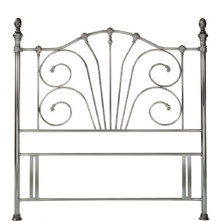 Rebecca Antique Nickel King-Sized Headboard